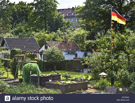 Garden In German by Allotment Garden With The German National Flag Germany