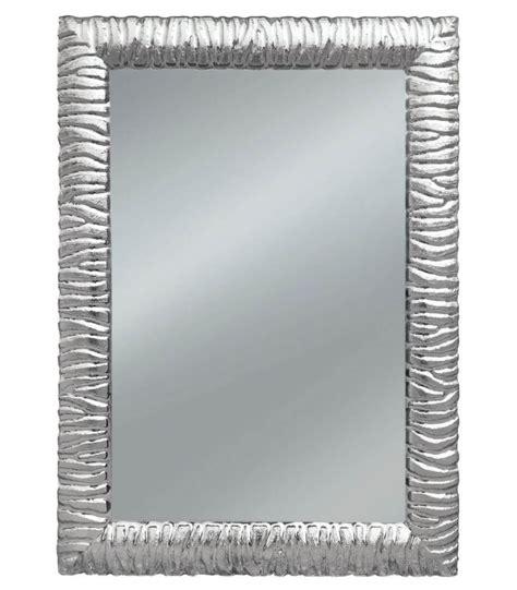 cornice moderna specchio con cornice moderna intarsiatata argento spazio