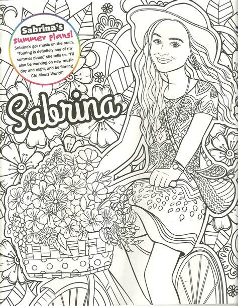 coloring page girl meets world sabrina carpenter coloring page my coloring pages