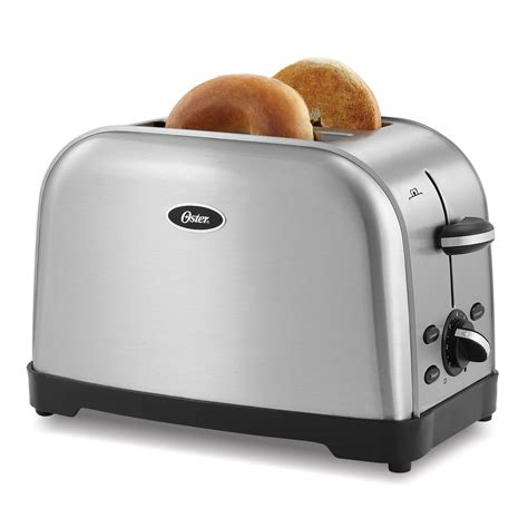 Brushed Steel Toaster Oster 174 2 Slice Toaster Brushed Stainless At Oster