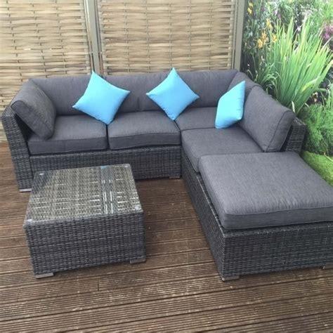 minnie rattan corner sofa  footstool  coffee table