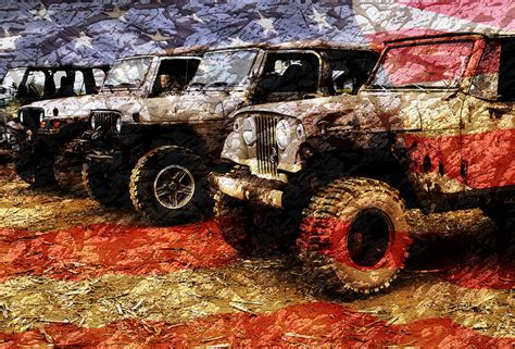 jeep artwork american jeeps photograph by luke moore