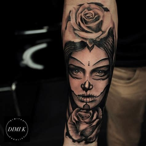 pin up tattoo for men mexican pin up on forearm
