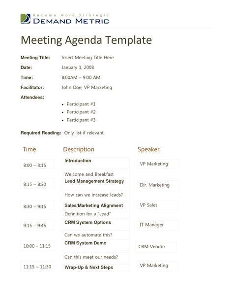 agenda template docs docstoc commeeting agenda template doc chainimage