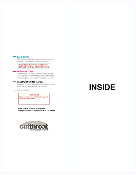 8 panel brochure template cutthroat printcustom brochure printing