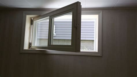 replacement windows basement herr egress window replacemywindows ca