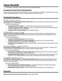 free asset review manager resume example