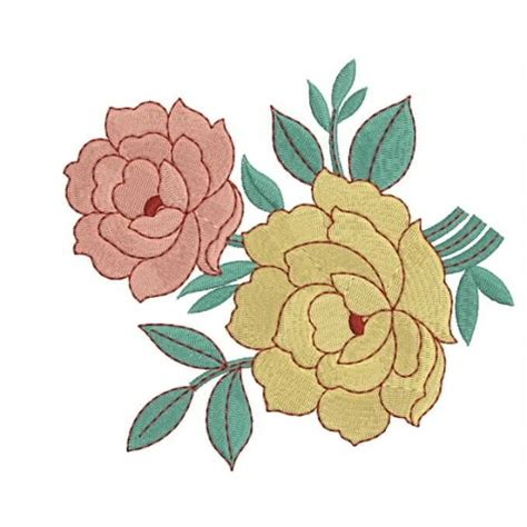 embroidery design rose flower rose designs embroidery 121
