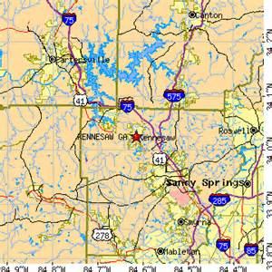 Kennesaw Zip Code Map by Kennesaw Georgia Ga Population Data Races Housing
