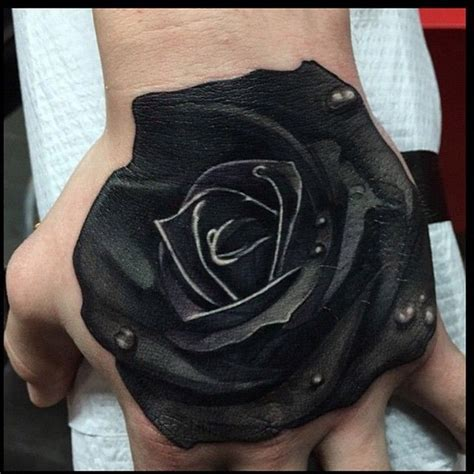 tattoo cover up red over black check out this solid black rose hand piece by ames32