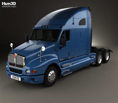kenworth 2010 models kenworth t2000 sleeper cab tractor truck 2010 3d model hum3d
