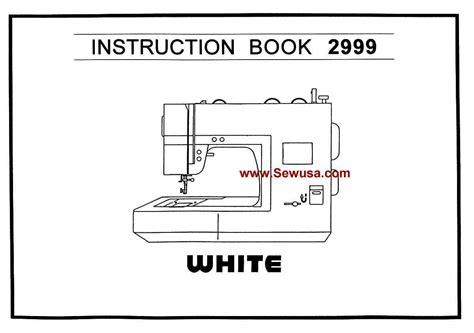White 2999 Instruction Manual