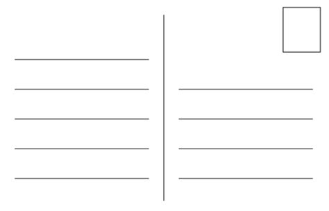 Postcard Template With Lines