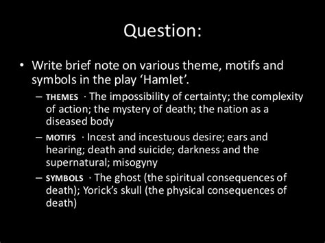 hamlet themes of death introduction to the play hamlet