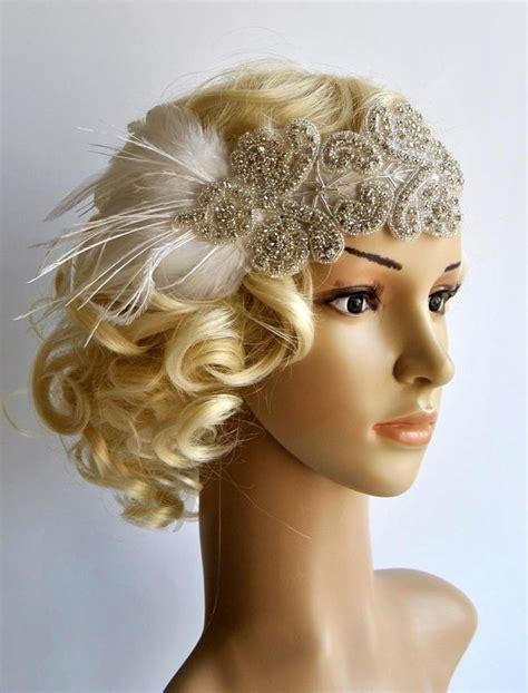 diy gatsby hairstyles rhinestone flapper gatsby headband wedding headband