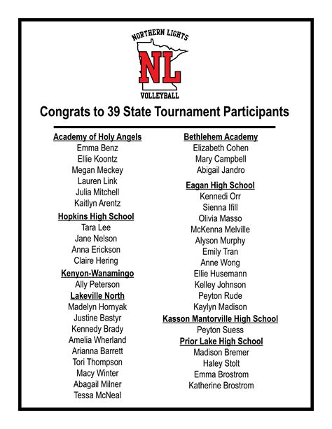 northern lights volleyball tournament congrats to 39 state participants northern lights junior