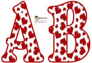 alfabeto relleno con corazones rojos oh my alfabetos