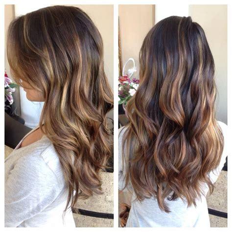 honey highlights for dark brown hair on inverted bob honey balayage on dark brown hair google search hair