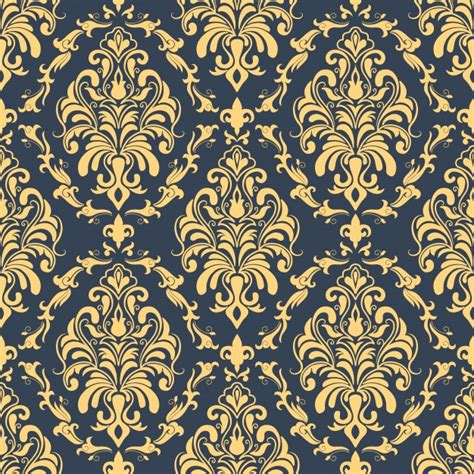 brown royal pattern vector damask seamless pattern background classical