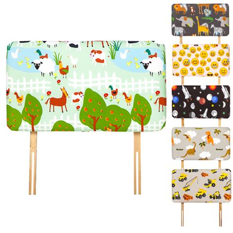 childrens fabric headboards childrens printed design single bed size fabric headboard