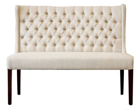 tufted dining bench lauren tufted dining bench white russian fabric
