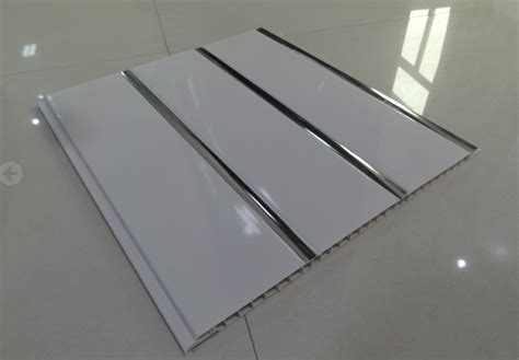 pvc ceiling panels china 250x8mm flat panel with three silver line pvc ceiling wall panel photos pictures made
