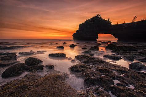 stock photo  lake seascape sunrise
