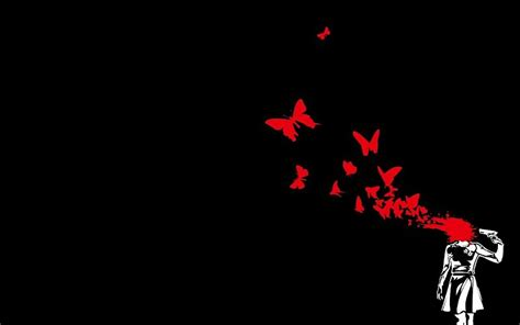 imagenes suicidas para fondo de pantalla pistolas de suicidio fondo negro mariposas fondo de