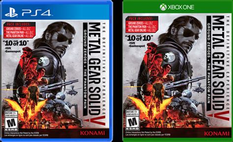 Ps4 Metal Gear Solid V Definitive Experience metal gear solid v the definitive experience anunciado