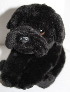 pug toys r us quality product plush brown puppy laying stuffed animal black nose 14 quot