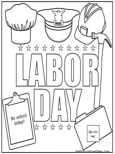 Printable Coloring Pages For Labor Day | labor day coloring pages free large images