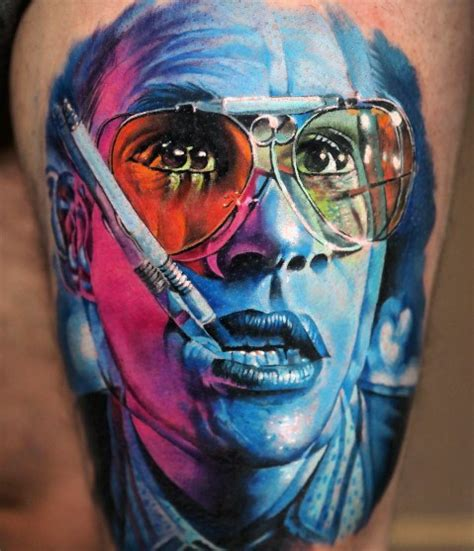 hunter s thompson tattoos 70 s thompson designs for fear and