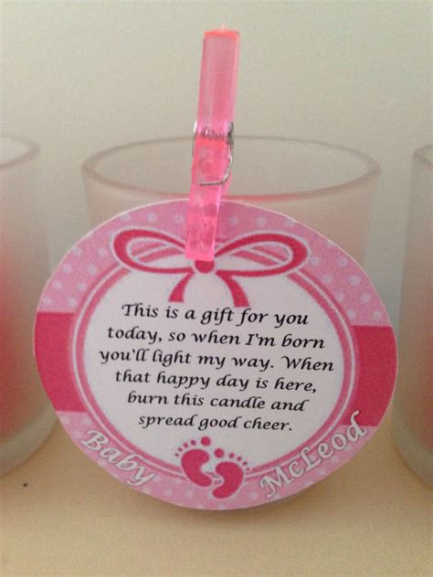 baby shower   gift   baby shower candle