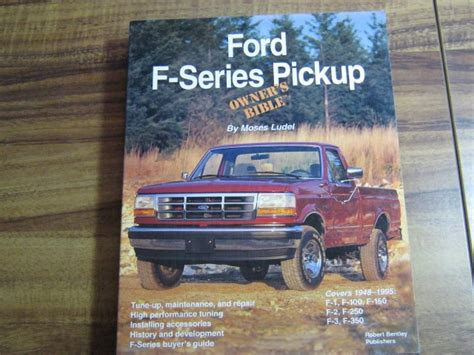 ford f series repair ford f series pickup owners bible 1948 1995