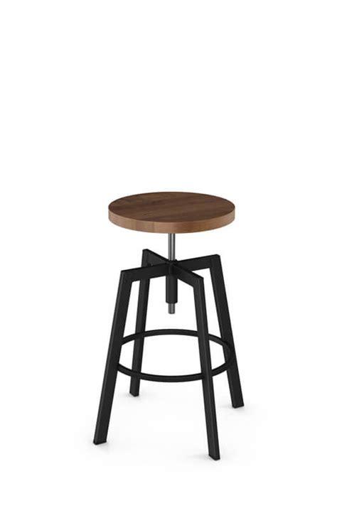 screw top bar stools amisco architect backless screw stool w wood seat free