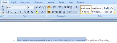print layout view word 2007 experience the live preview feature in print layout view