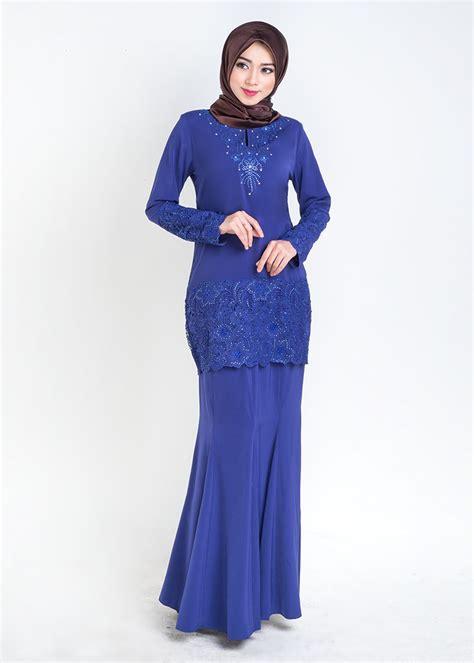 Baju Kurung Kedah Royal Blue baju kurung moden prada lace qalisya royal blue