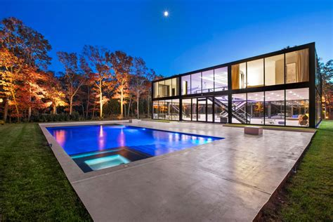 Glass Box House by Own A Glass Box Hamptons Home Designed By One World Trade