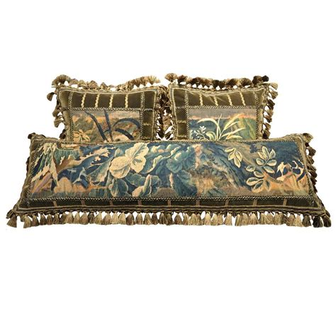 Handmade Pillows For Sale - set of three handmade pillows made from aubusson tapestry