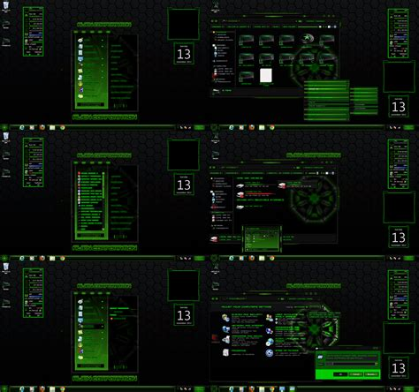 themes center download windows 7 theme green alien corporation center by