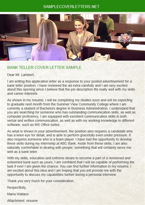 cover letters for bank tellers bank teller cover letter sle sle cover letters