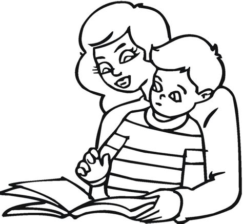 coloring pages with reading free coloring pages of child reading
