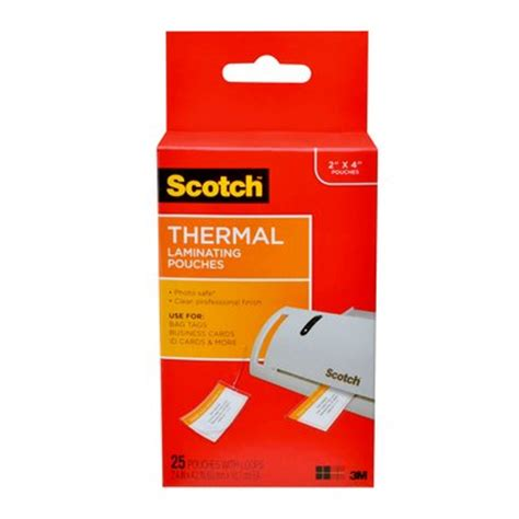scotch™ thermal laminating pouches, bag tags with loops