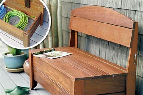 secret compartment storage bench  ways  add outdoor