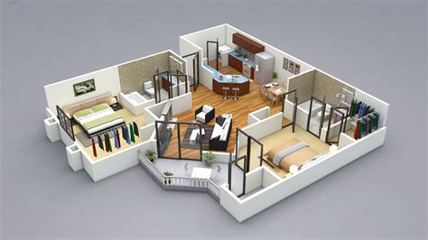 home design for 3 room 2 bedroom house plans designs 3d artdreamshome
