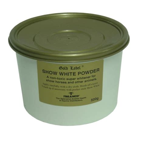 White Label Detox In Powder by Gold Label Show White Powder For Horses
