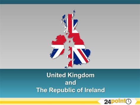 Mba Courses In United Kingdom by United Kingdom And The Republic Of Ireland Editable Ppt Map