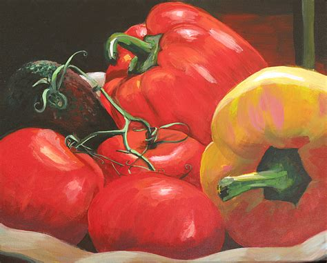 acrylic painting vegetables beautiful vegetables painting by teele
