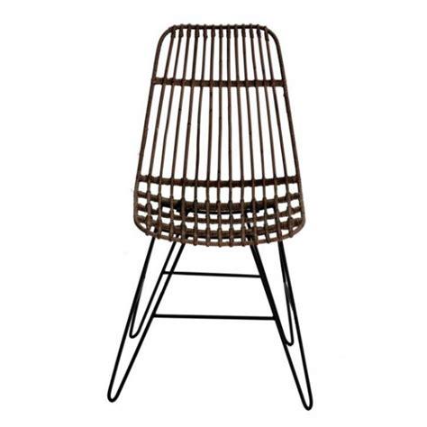 sedie in rattan sedia in rattan e metallo marrone