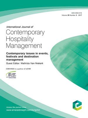 Mba Hospitality Management South by International Journal Of Contemporary Hospitality